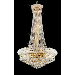 House of Hampton Kinlaw French Empire 15 -Light Crystal Chandelier