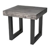 Dunamuggy Solid Wood Sled End Table by Brayden Studio®