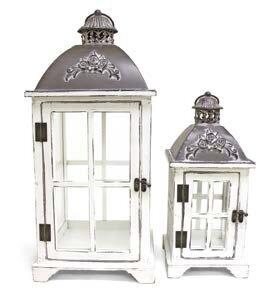 Decorative Metal/Wood Lantern (Set of 2) ..