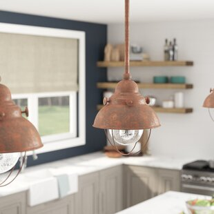 Reviews Corbel 1-Light  LED Dome Pendant By Beachcrest Home
