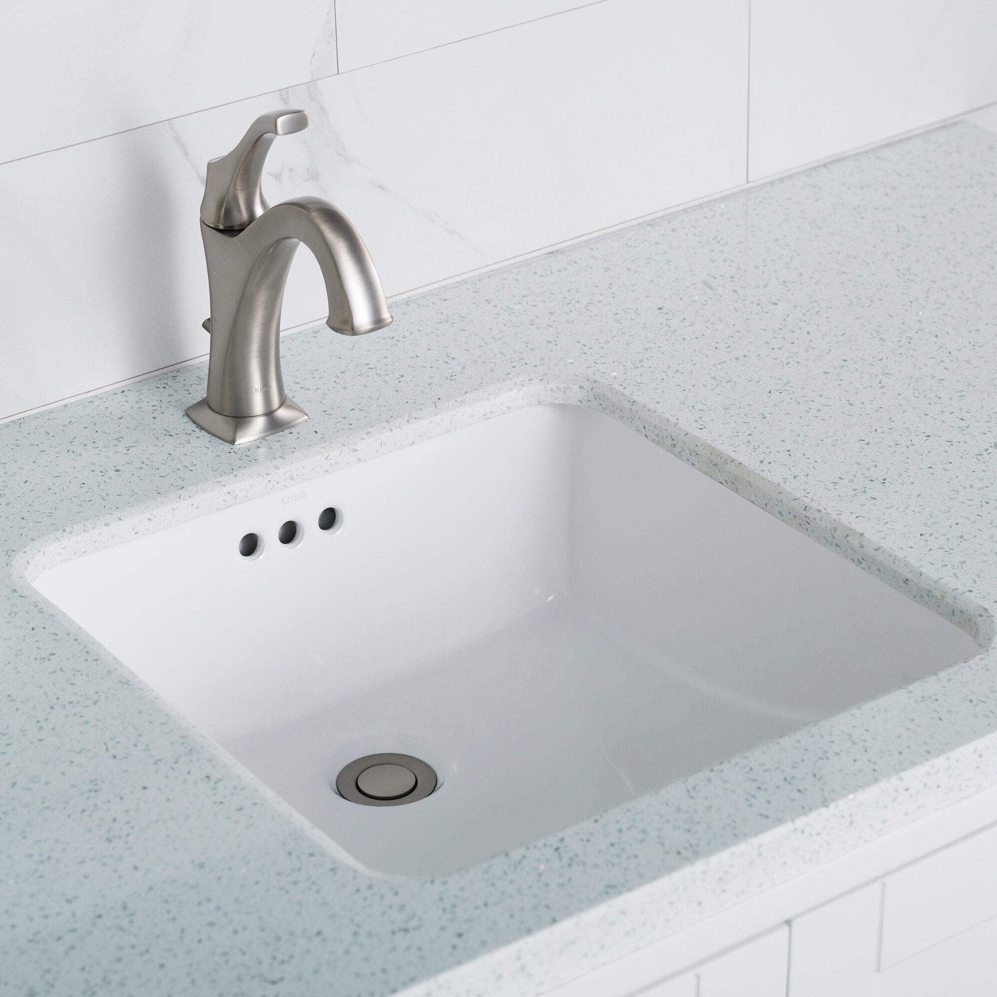 Phenomenal Elavo Ceramic Square Undermount Bathroom Sink With Overflow Beutiful Home Inspiration Xortanetmahrainfo