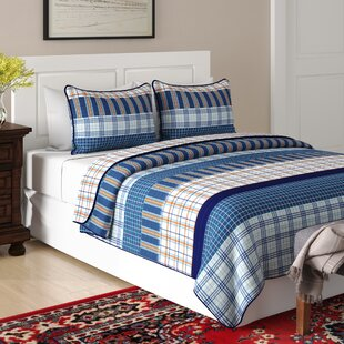 Salina 100% Cotton Reversible Quilt Set