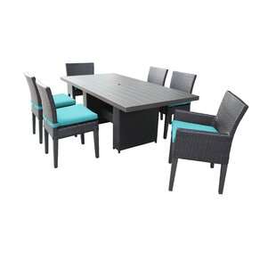 Fernando 7 Piece Outdoor Patio Dining Set with Cushions