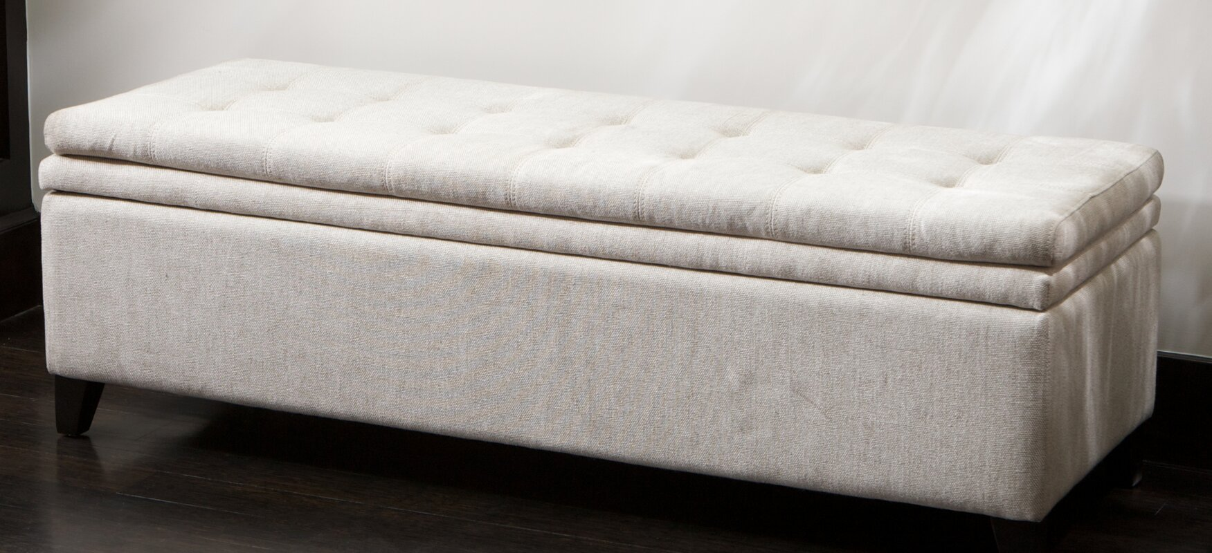 federick storage bench pin linen products gray
