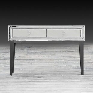 Everly Quinn Mila Mirrored Console Table