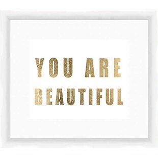 You Are Beautiful Framed Textual Art