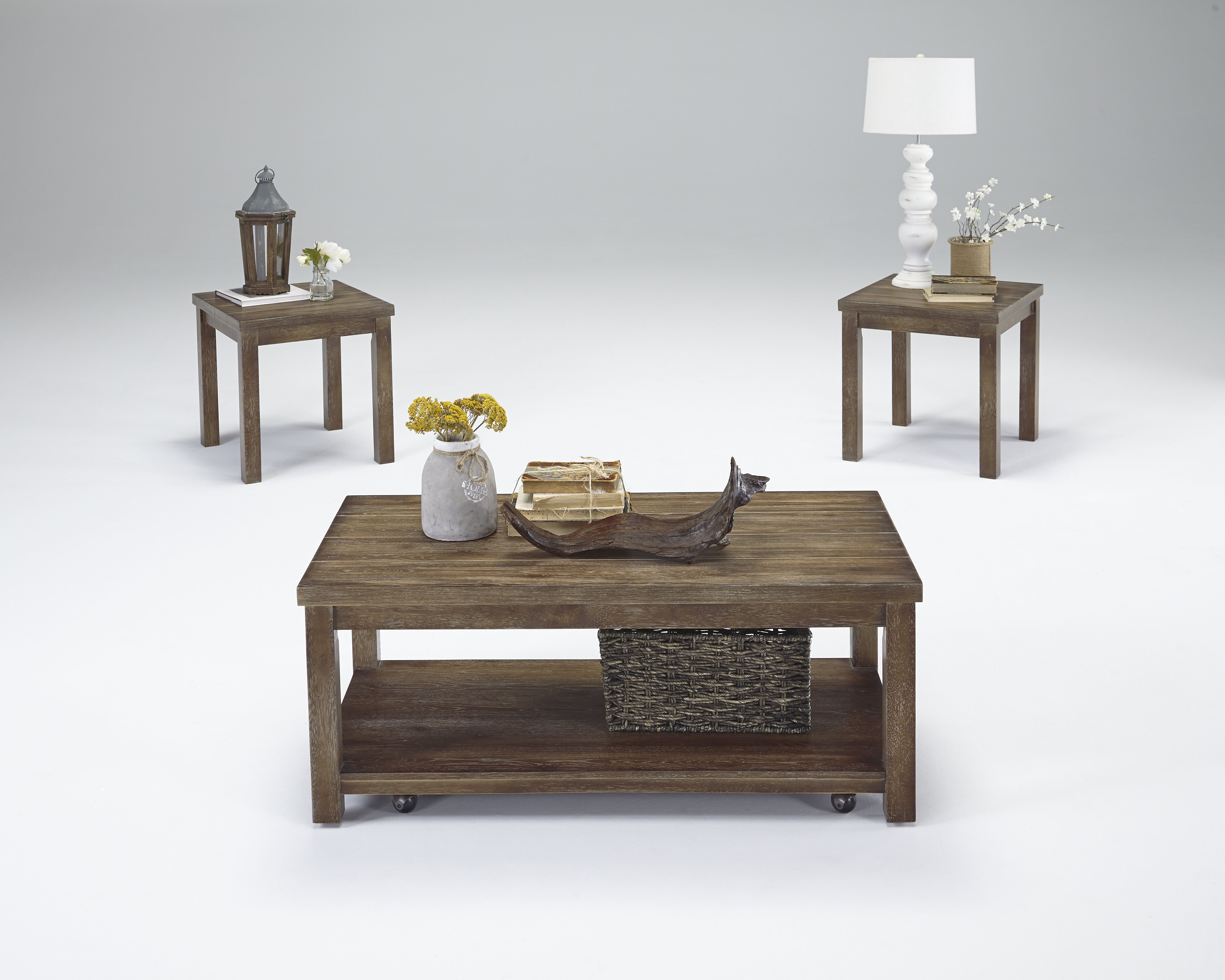 Rosecliff Heights Nashua 3 Piece Coffee Table Set & Reviews | Wayfair