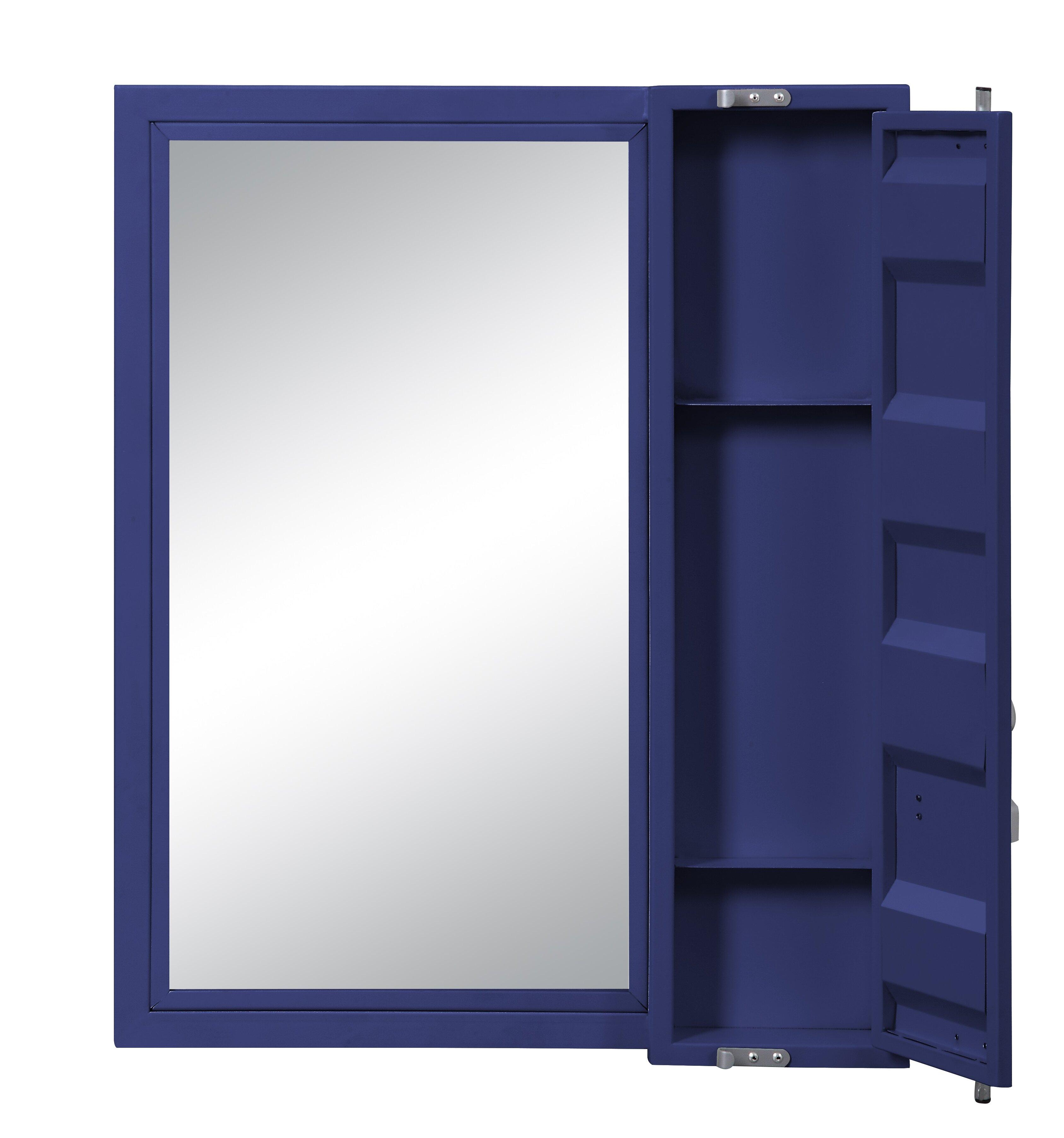 Longshore Tides Kaylyn Container Bathroom Vanity Mirror With Shelves Wayfair
