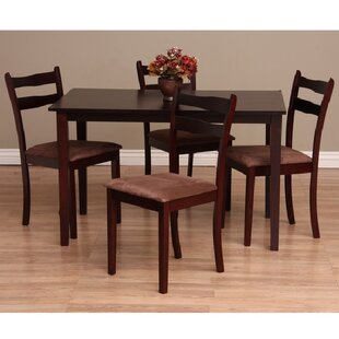 Callan 5 Piece Solid Wood Dining Set Warehouse of Tiffany