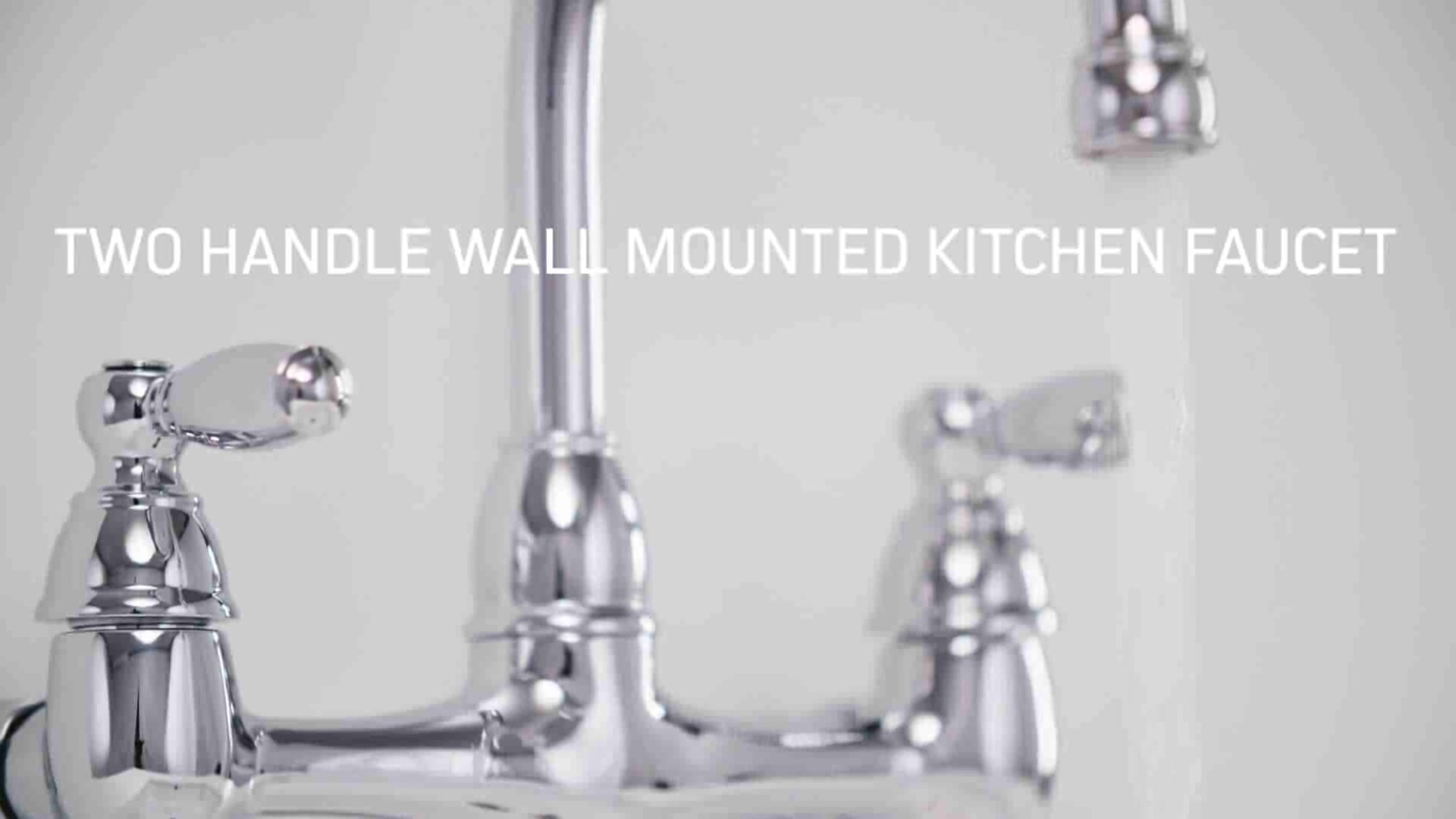 Peerless Faucets Double Handle Kitchen Faucet & Reviews