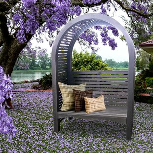 European Garden Living Adelaide Wood Arbor with Bench
