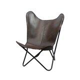 Aldo Leather Butterfly Chair by Brayden Studio®