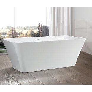 Compare 67 x 29.5 Freestanding Soaking Bathtub ByVanity Art