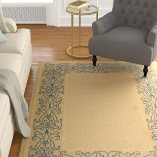 Meriline Ivoly/Blue Indoor/Outdoor Area Rug
