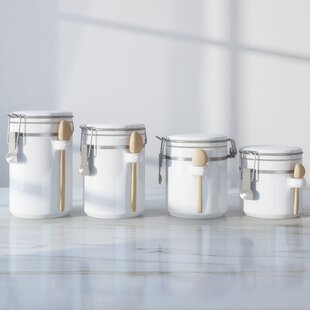 4 Piece Ceramic Kitchen Canister Set