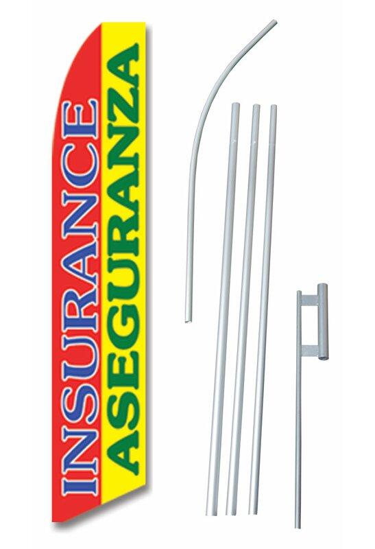 Neoplex Bilingual Insurance Aseguranza Polyester 180 X 30 In Flag Set Wayfair