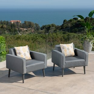 Pearl Patio Chair with Cushion (Set of 2)