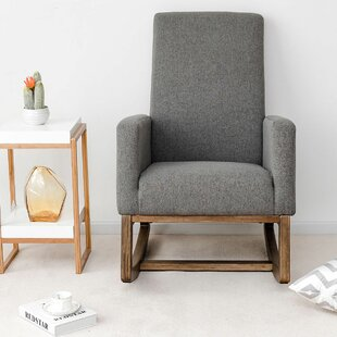 Gentil Raya Mid Century Upholstered Rocking Chair