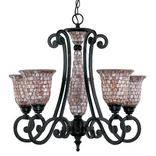 Classic Lighting Pearl River 5-Light Shaded Chandelier