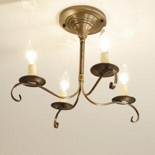 Northeast Lantern Chandelier 4-Light Candle Style Chandelier