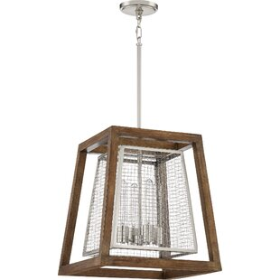 Dillow 4-Light Geometric Chandelier by Williston Forge