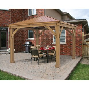 12 Ft. W x 12 Ft. D Solid Wood Patio Gazebo by Yardistry