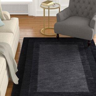 Price comparison Keifer Hand-Tufted Black/Gray Area Rug ByAlcott Hill