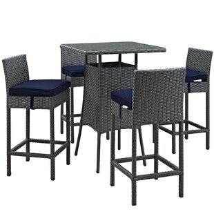 Tripp 5 Piece Bar Height Dining Set with Cushion