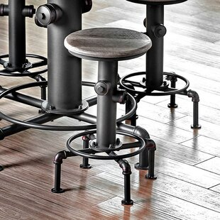Lippincott Industrial Counter 20 Swivel Bar Stool (Set of 2) by 17 Stories