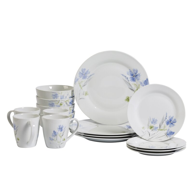 August Grove Kissane 16 Piece Dinnerware Set, Service for 4