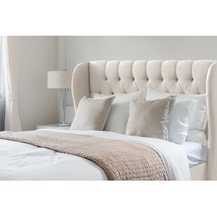 Check Prices Elsa Upholstered Wingback Headboard by Wayfair Custom Upholstery™