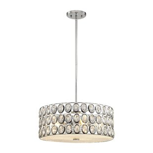 Blucher Crystal 5-Light Drum Pendant by Willa Arlo Interiors