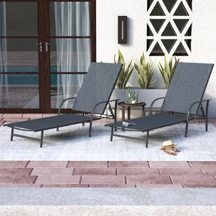 Armando Outdoor Reclining Chaise Lounge (Set of 2)