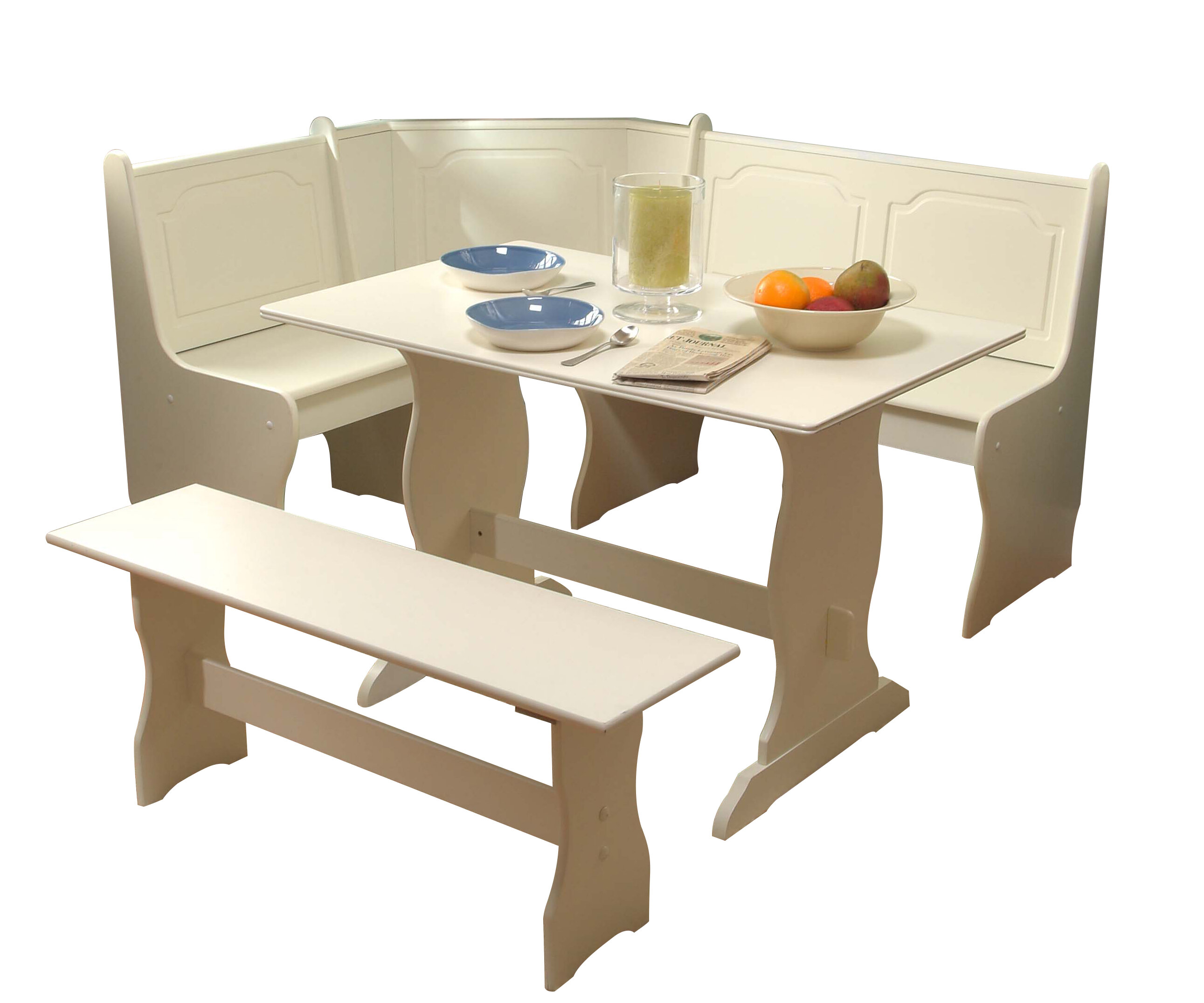August Grove® Foristell 3 Piece Breakfast Nook Dining Set