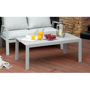 Belleville Aluminum Coffee Table by Rosecliff Heights Best Choices