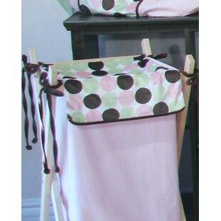 Brandee Danielle Minky Dot Laundry Hamper