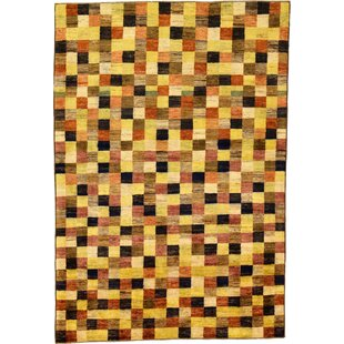 Best Deals One-of-a-Kind Nash Hand-Knotted  4' x 5'10 Wool Cream/Black Area Rug By Isabelline