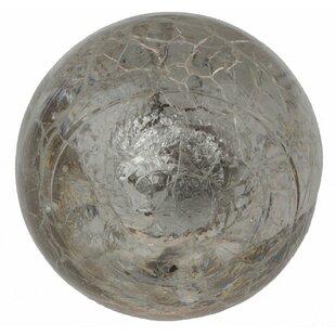 Handpainted Glass Crackled Cabinet Round Knob