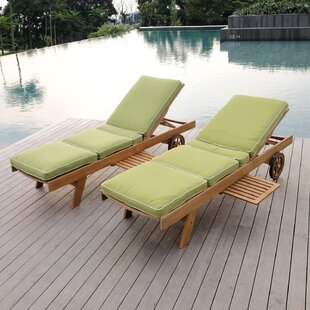 Searching for Summerton Reclining Teak Chaise Lounge with Cushion Great price