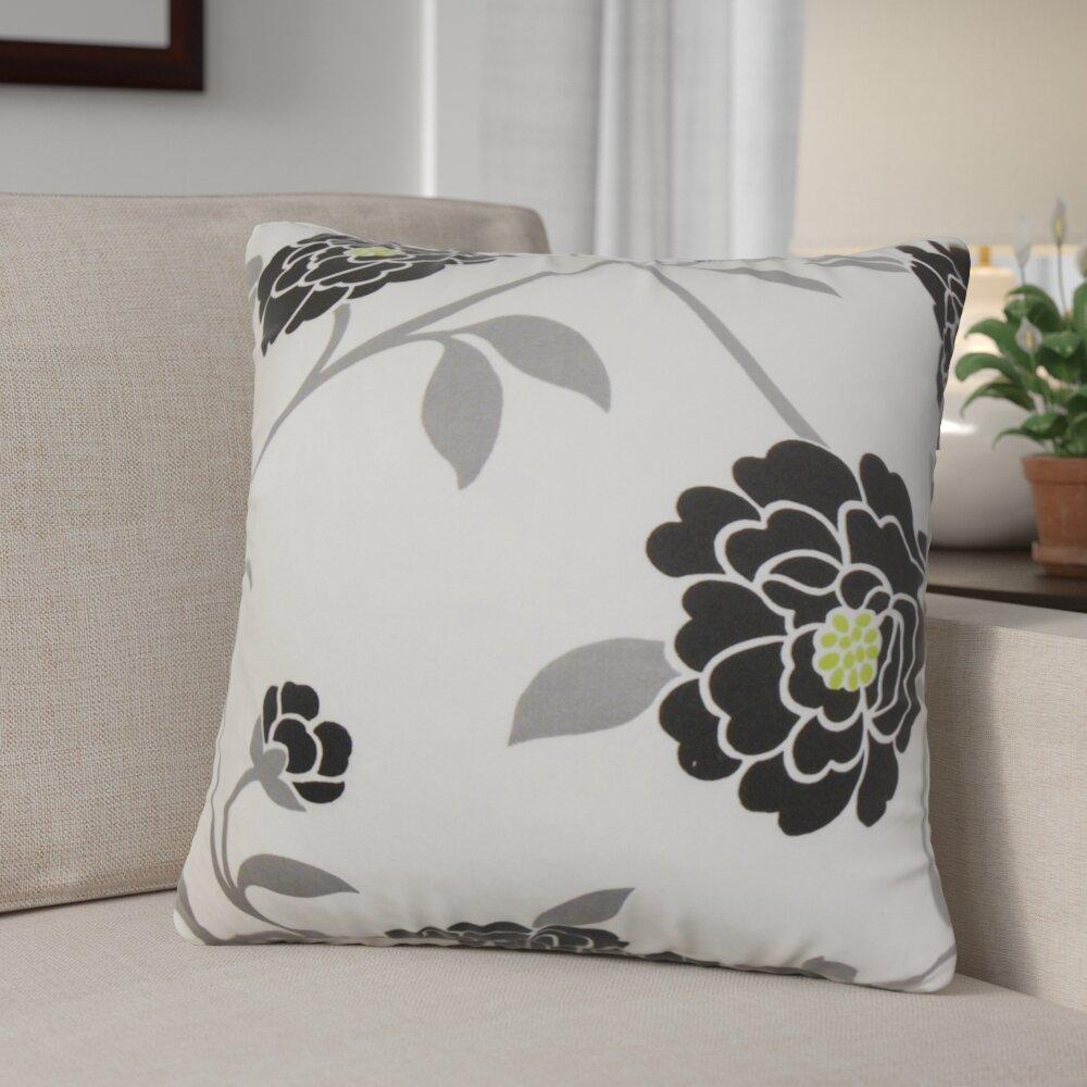 Red Barrel Studio Ashton Ridge Floral Cotton Throw Pillow Cover Wayfair