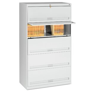 Closed Fixed 5-Shelf Vertical Filing Cabinet