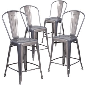 Timo 24'' Bar Stools (Set of 4) by 17 Stories