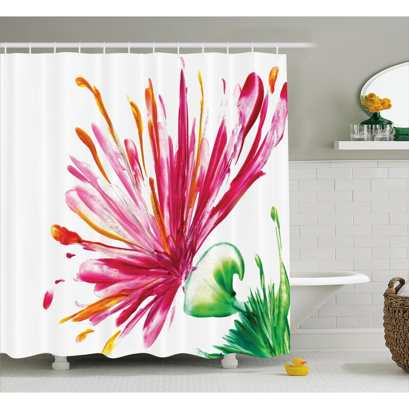 Oriental Lily Decor Shower Curtain
