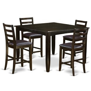Tamarack 5 Piece Solid Wood Dining Set Red Barrel Studio