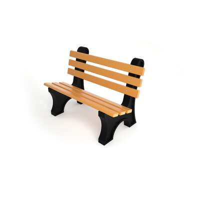 Aiden Recycled Plastic Park Bench Freeport Park Size: 4