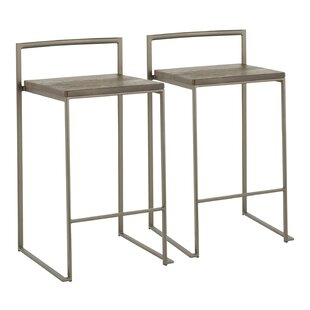 Gary Industrial Stackable 27.75 Bar Stool (Set of 2) 17 Stories