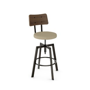 Lorri Adjustable Height Swivel Bar Stool Union Rustic