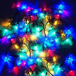 30 Multicolour LED Dragonfly Solar Fairy Lights By OE Lights