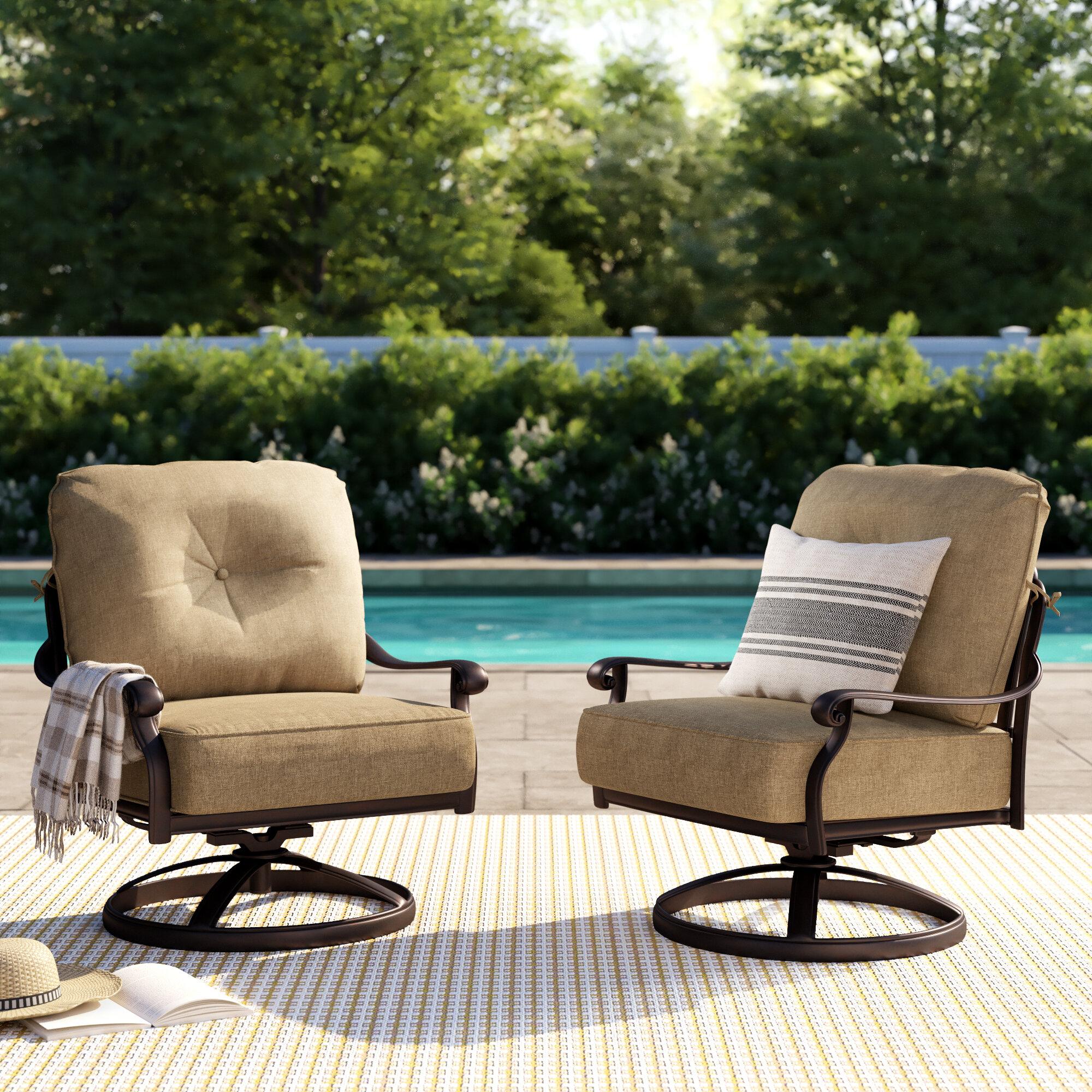 Rocker Swivel Recliner Patio Chair