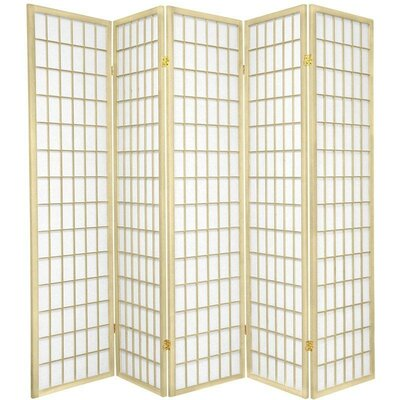 Bungalow Rose Leiva Room Divider Color: Ivory, Number of Panels: 5